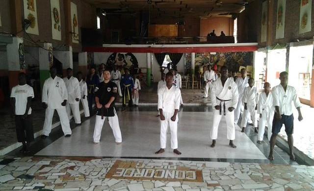 A Class taught by Sensei Donnie in Jacmel, Haiti