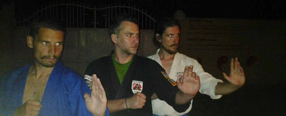 Sensei Donnie with his students Gabriel and Robert