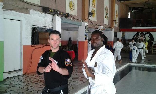 Sensei Donnie with Jacmel's Sensei Meto